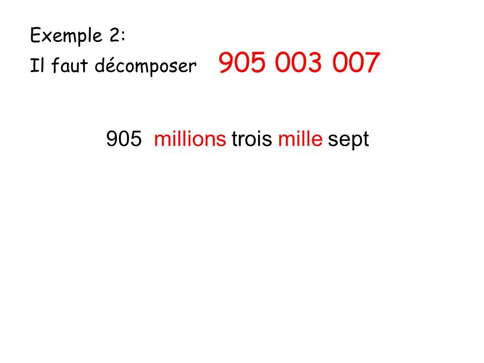 905 millions trois mille sept