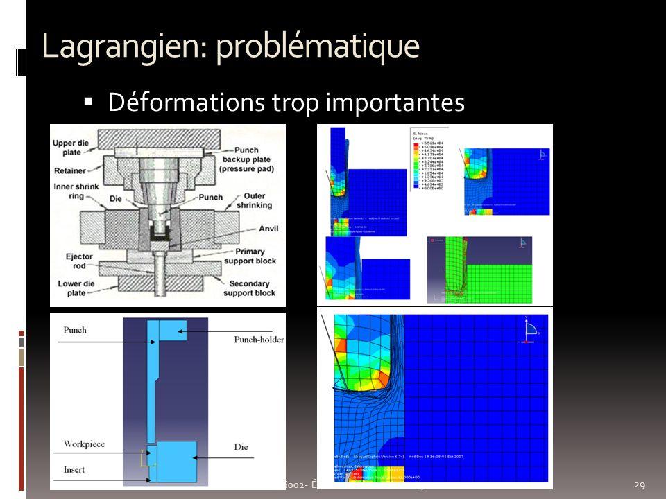 Lagrangien: problématique