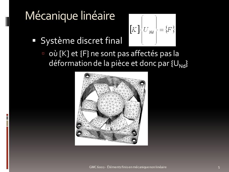 Mécanique linéaire Système discret final