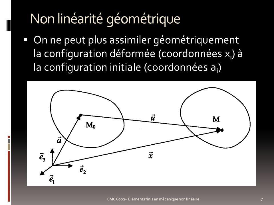 Non linéarité géométrique