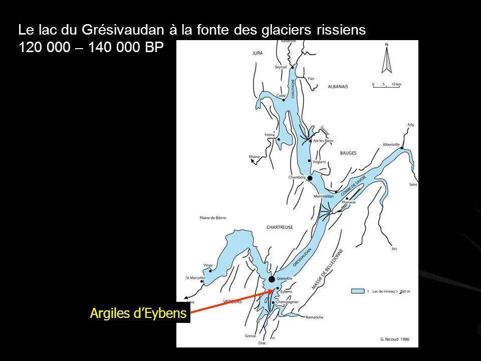 Le lac du Grésivaudan à la fonte des glaciers rissiens
