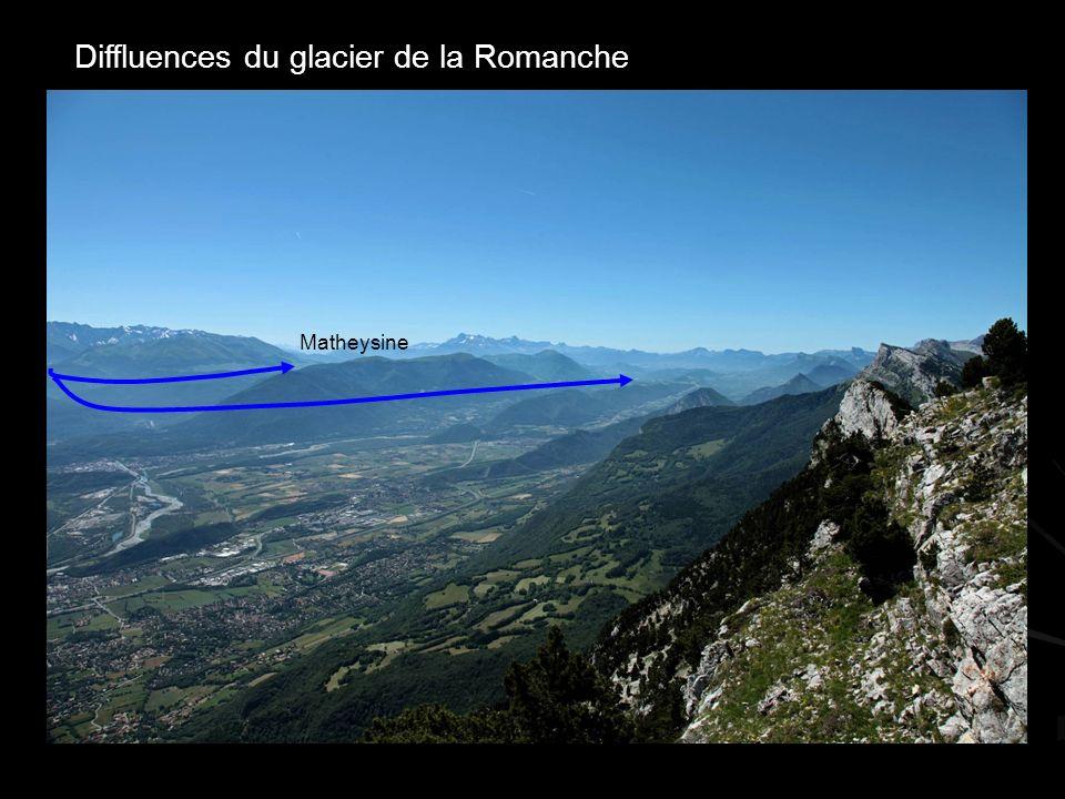 Diffluences du glacier de la Romanche