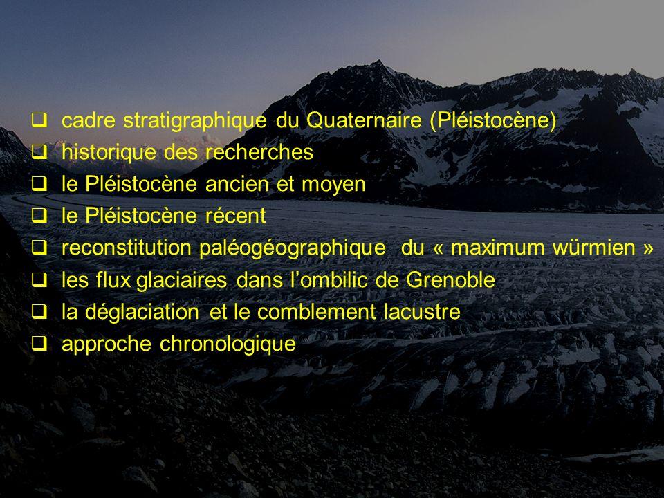 cadre stratigraphique du Quaternaire (Pléistocène)