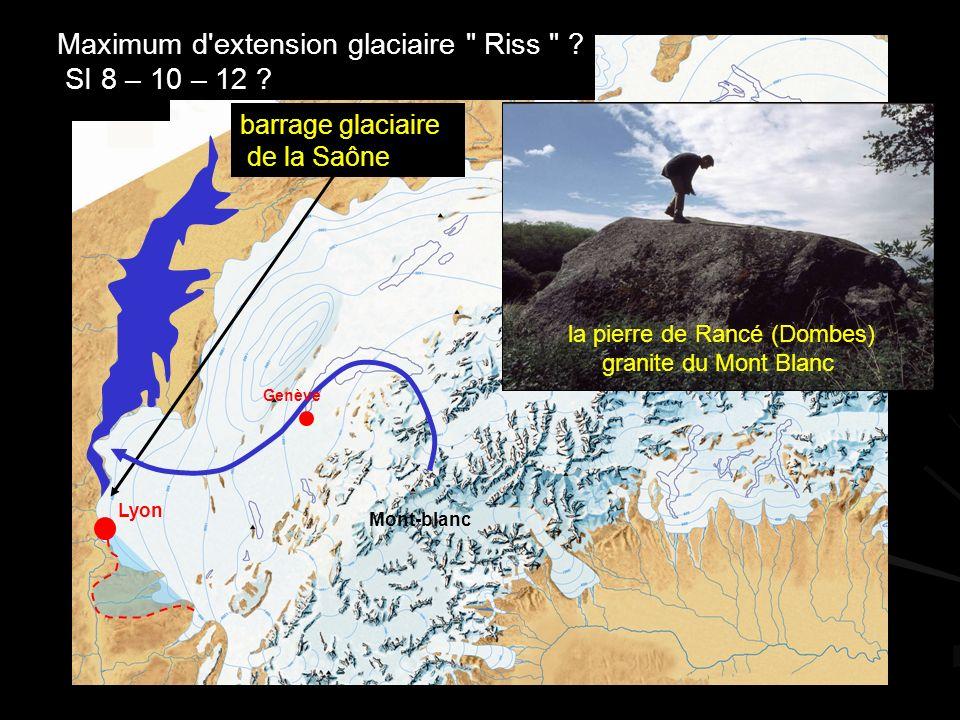 la pierre de Rancé (Dombes) granite du Mont Blanc