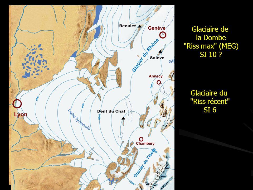 Glaciaire de la Dombe Riss max (MEG) SI 10 Glaciaire du Riss récent SI 6