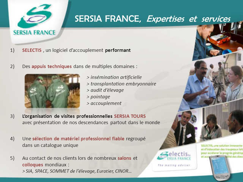 SERSIA FRANCE, Expertises et services