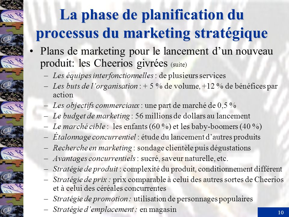 La phase de planification du processus du marketing stratégique