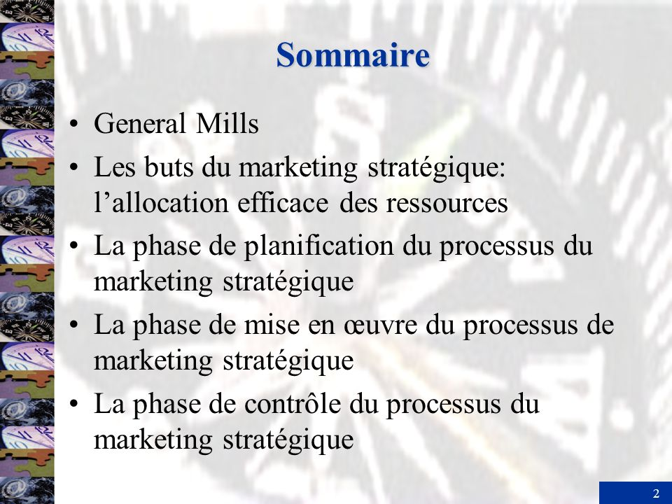 Sommaire General Mills