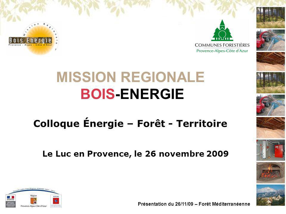 MISSION REGIONALE BOIS-ENERGIE