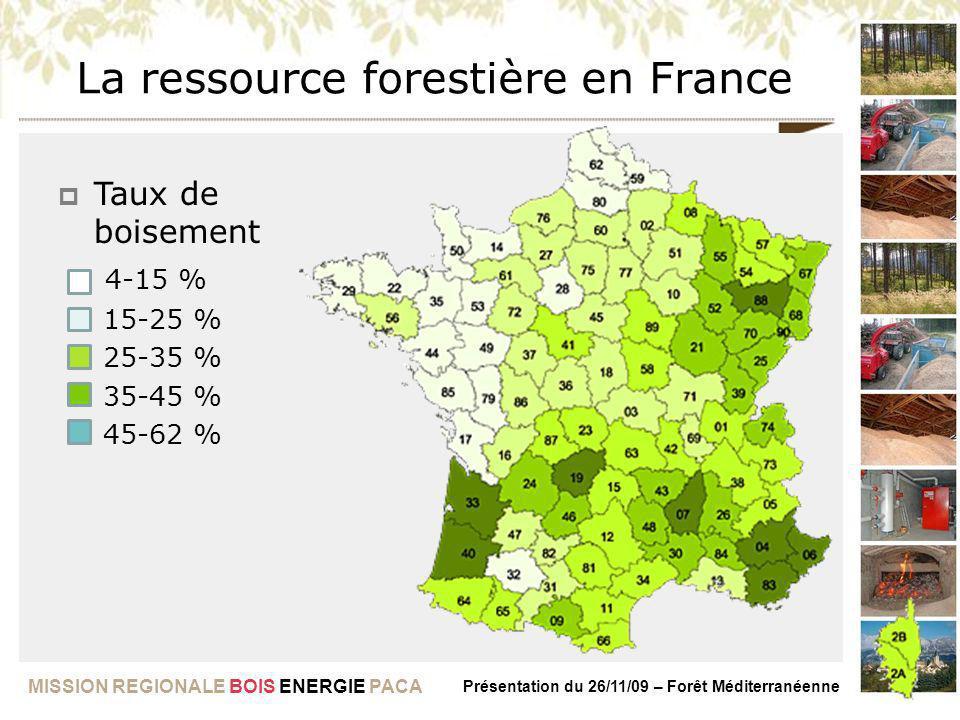 La ressource forestière en France