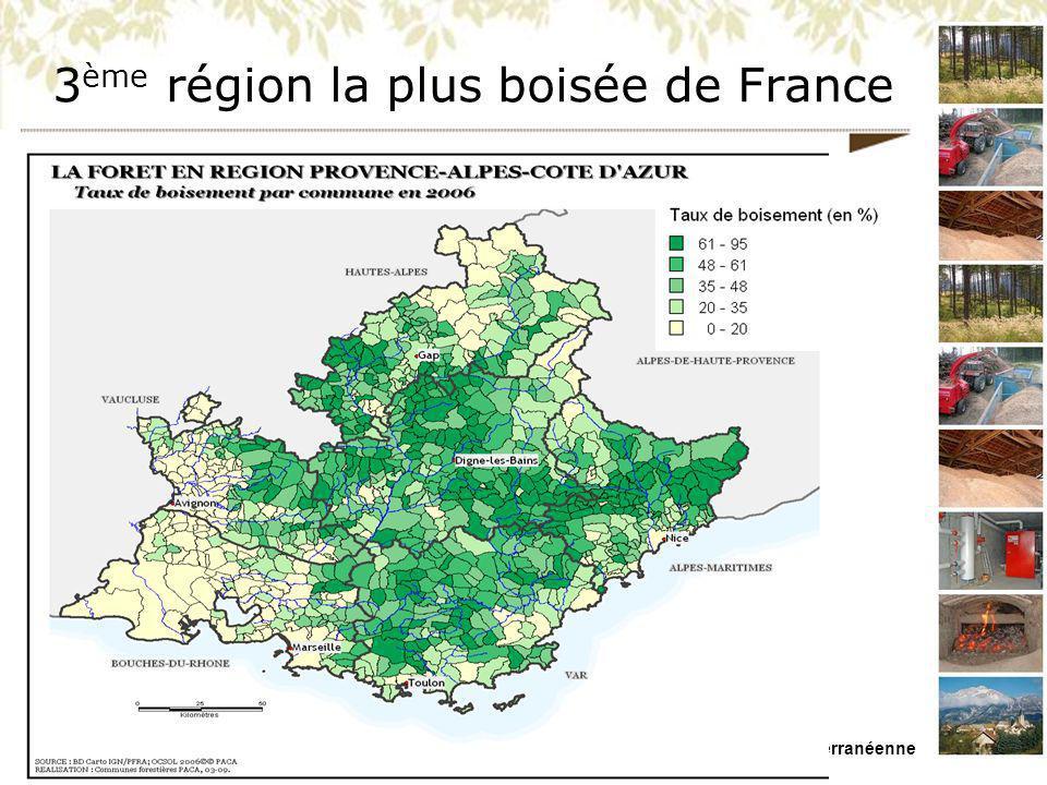 3ème région la plus boisée de France