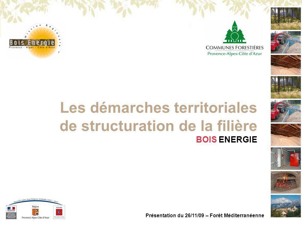 Les démarches territoriales de structuration de la filière
