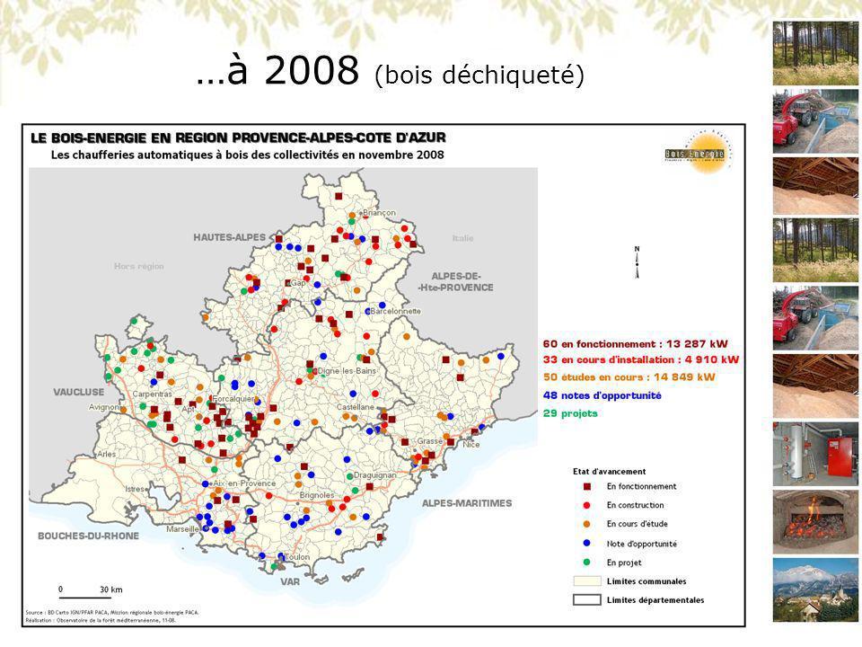 …à 2008 (bois déchiqueté)