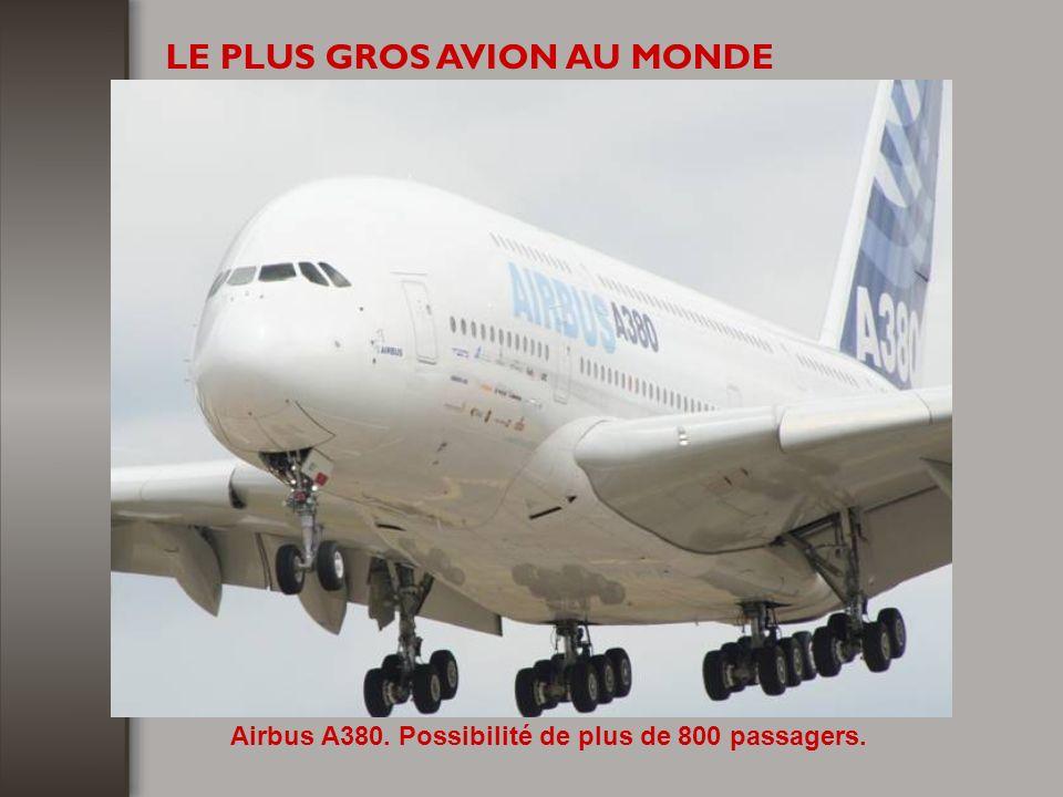 Airbus A380. Possibilité de plus de 800 passagers.