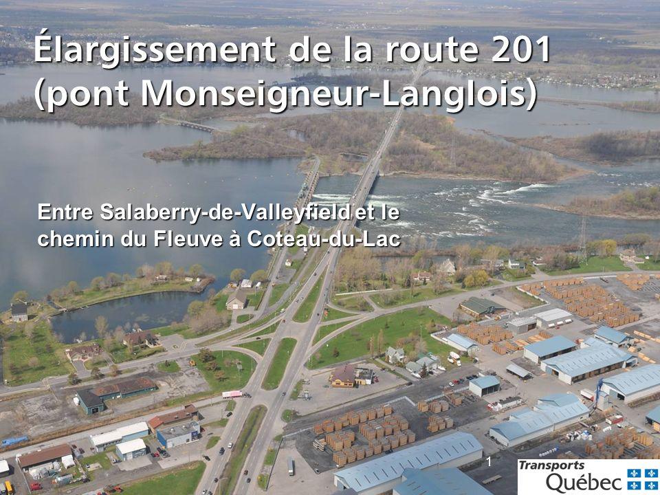 Élargissement de la route 201 (pont Monseigneur-Langlois)