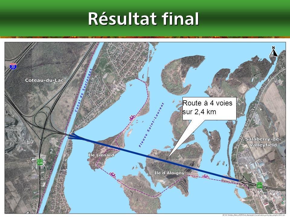 Résultat final Route à 4 voies sur 2,4 km