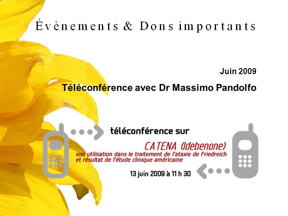 Téléconférence avec Dr Massimo Pandolfo