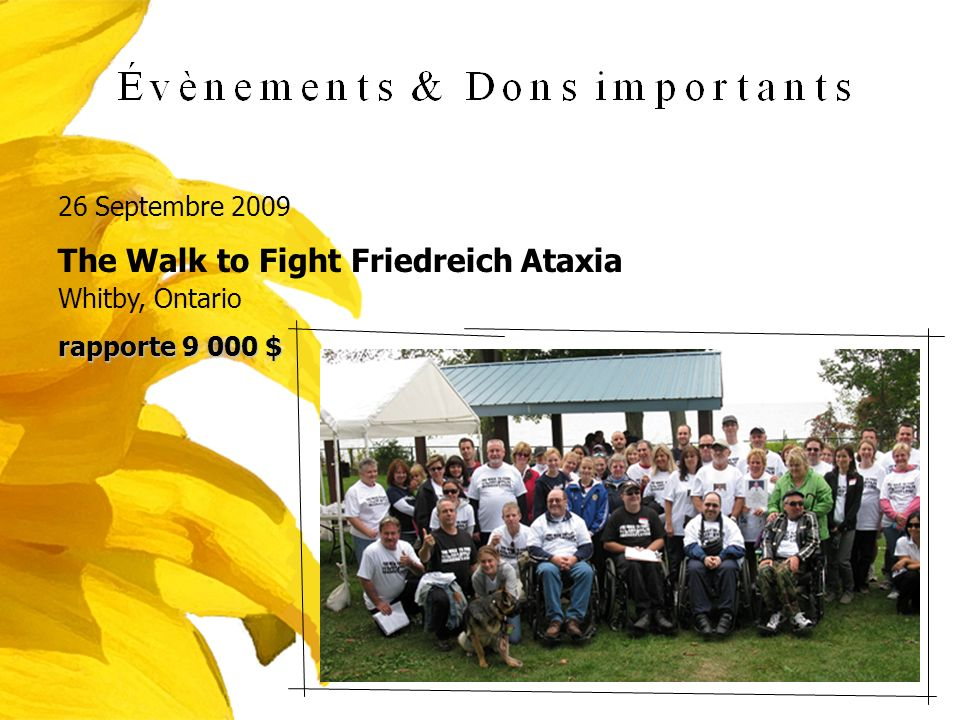 The Walk to Fight Friedreich Ataxia