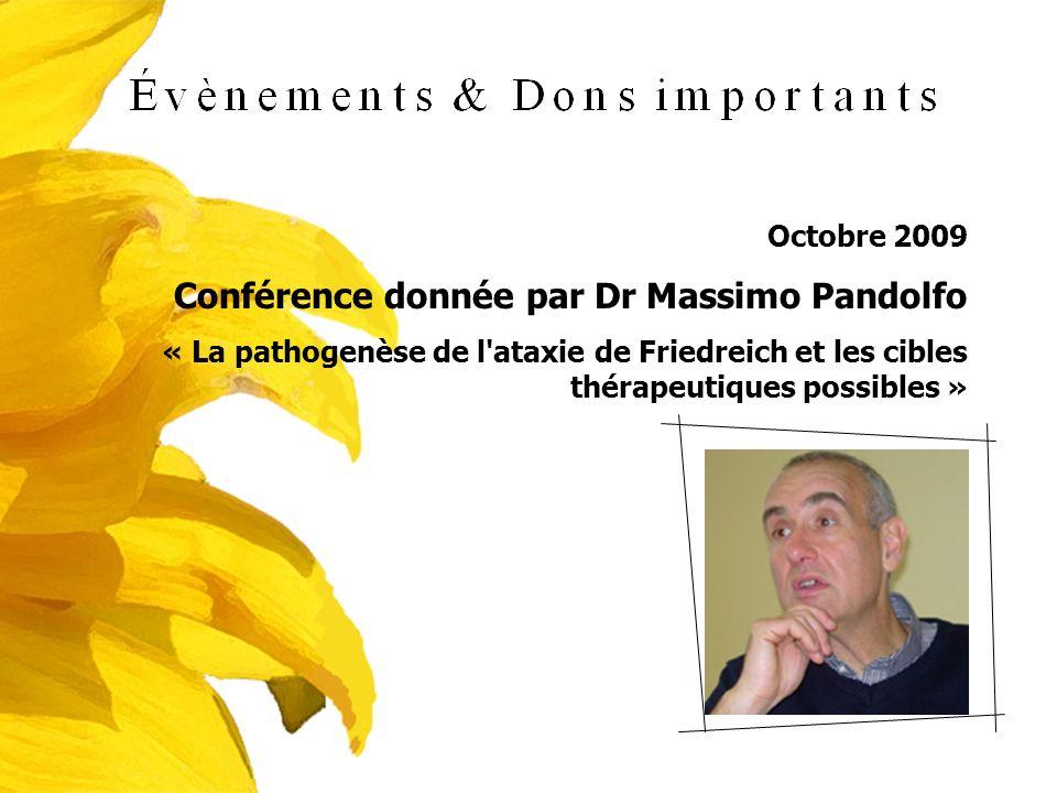 Conférence donnée par Dr Massimo Pandolfo