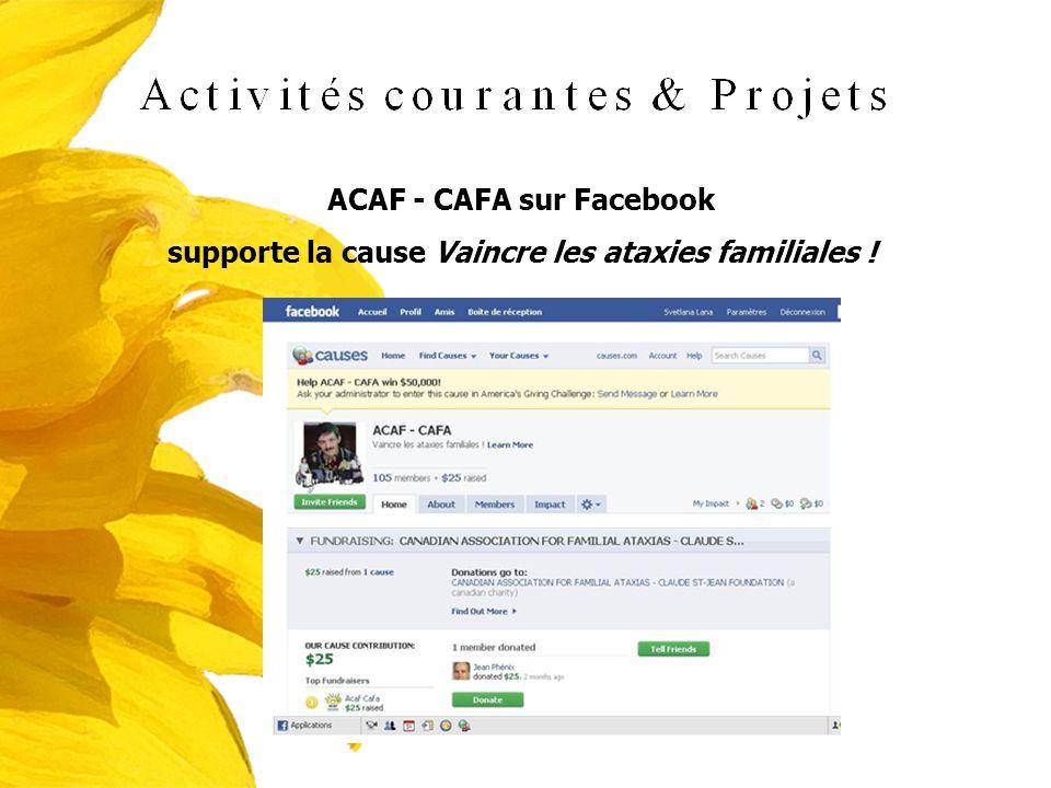 ACAF - CAFA sur Facebook