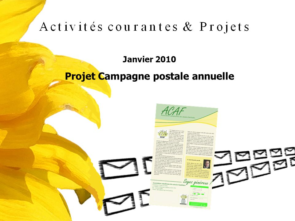 Projet Campagne postale annuelle