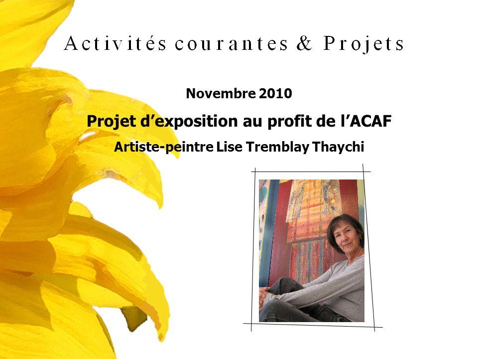Projet d'exposition au profit de l'ACAF