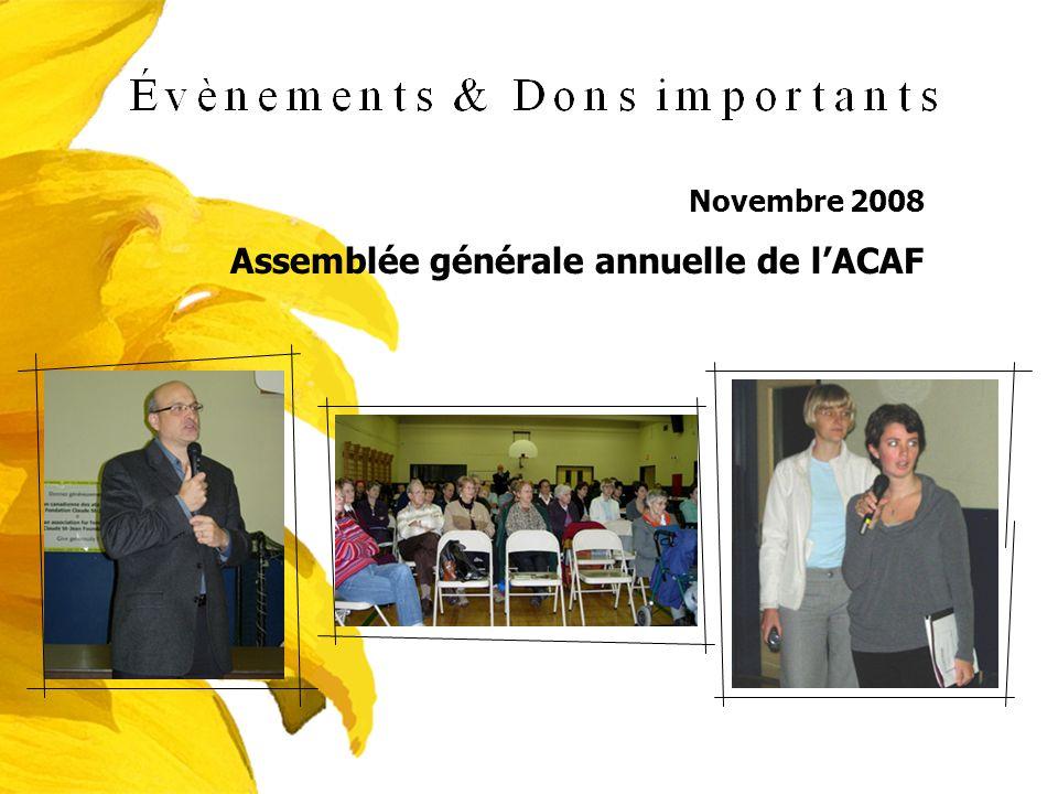 Assemblée générale annuelle de l'ACAF