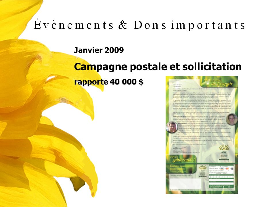 Campagne postale et sollicitation