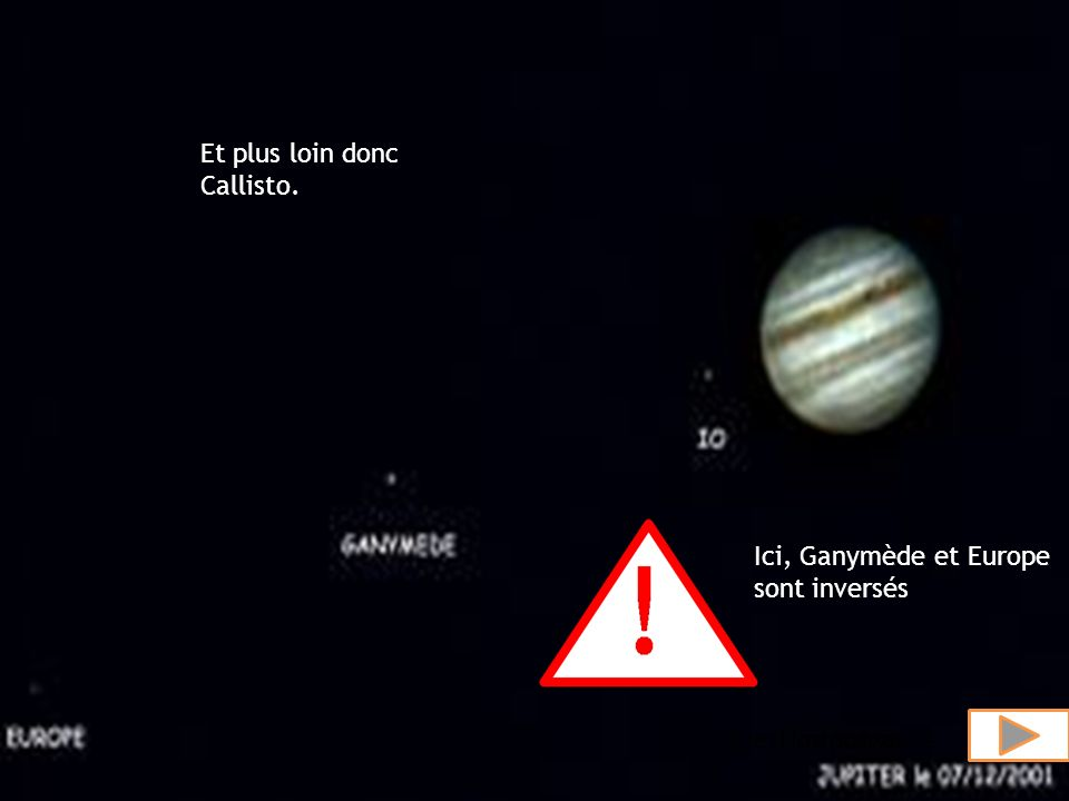 Io, Europe, Ganymède et Callisto.