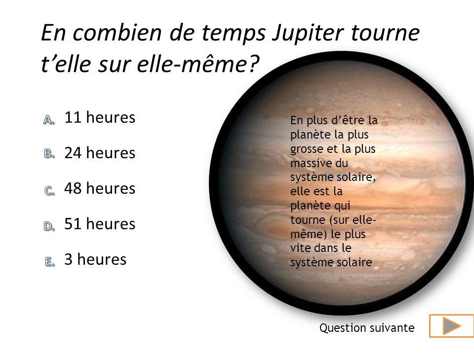 En combien de temps Jupiter tourne t'elle sur elle-même