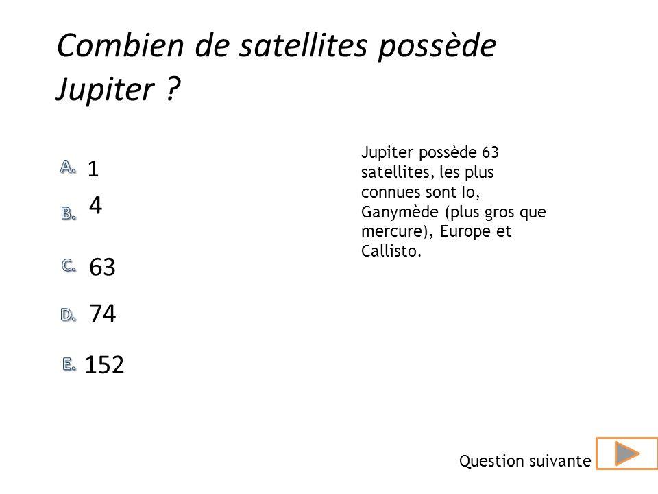 Combien de satellites possède Jupiter