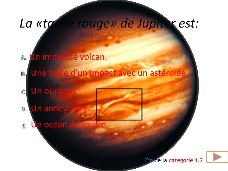 La «tache rouge» de Jupiter est: