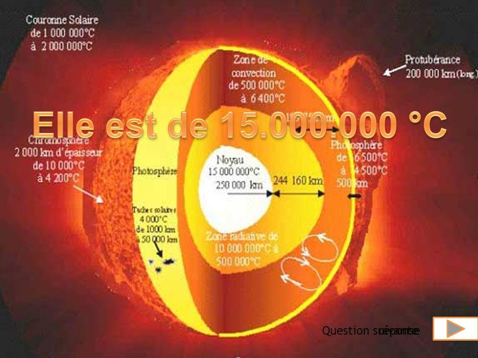 Quel est la température au centre du soleil