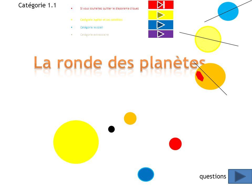 La ronde des planètes Catégorie 1.1 questions