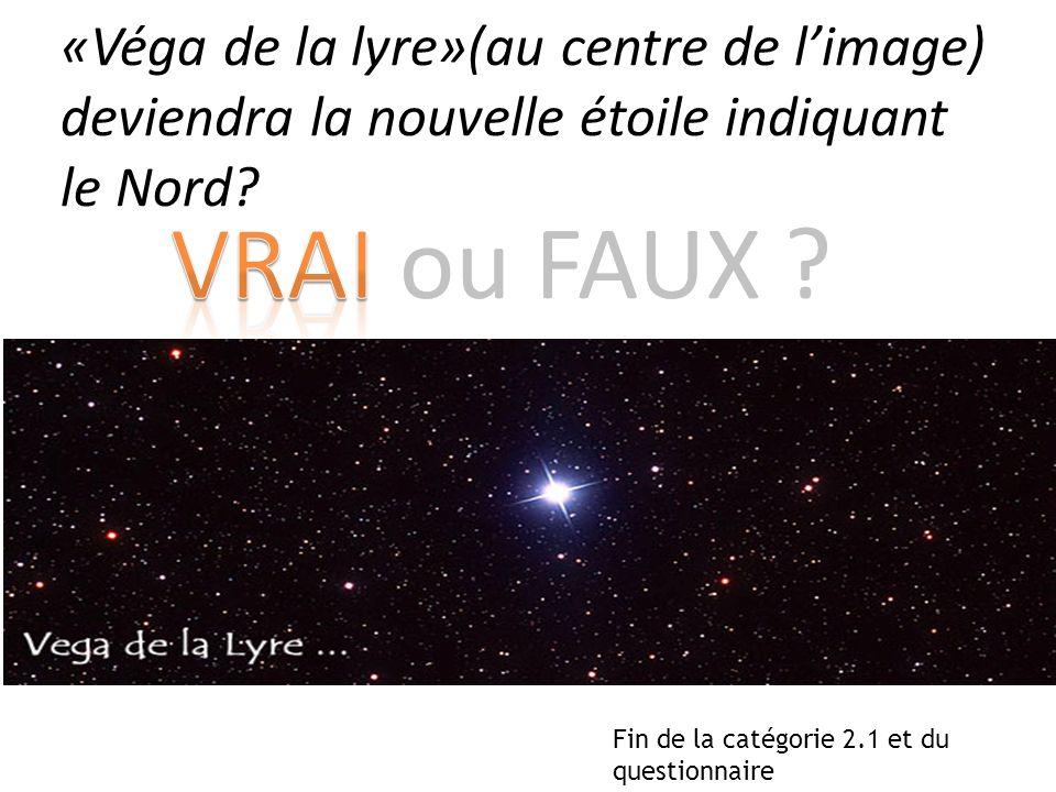 «Véga de la lyre»(au centre de l'image) deviendra la nouvelle étoile indiquant le Nord