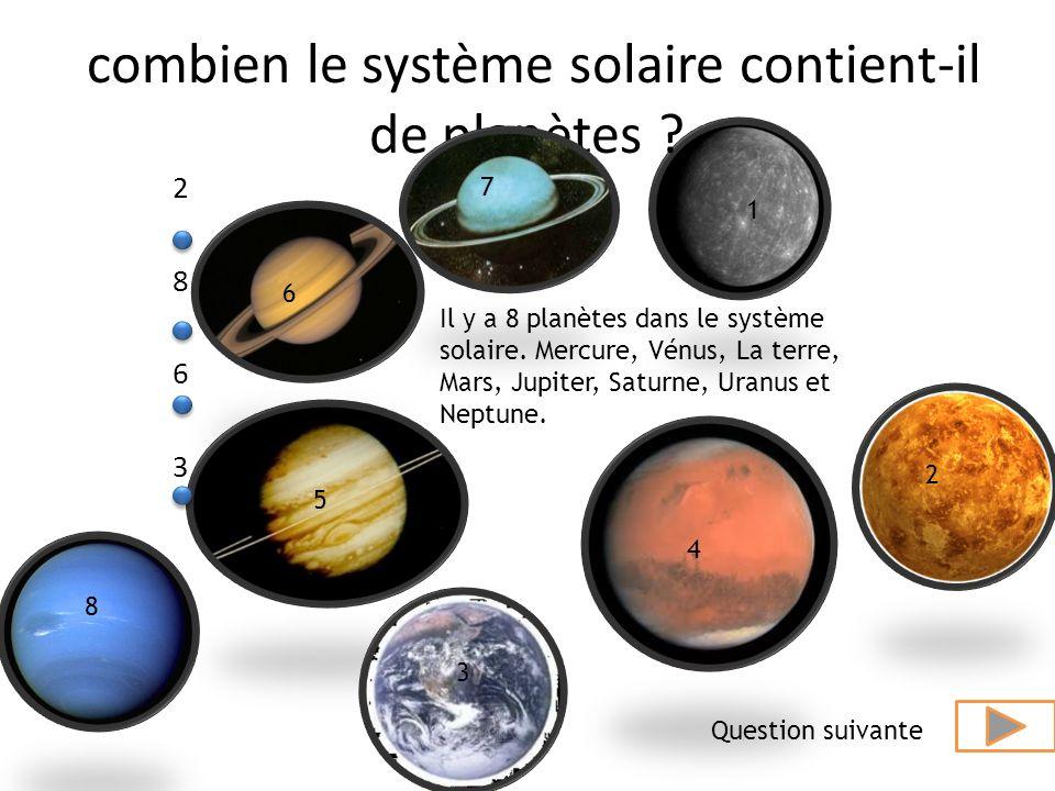 combien le système solaire contient-il de planètes