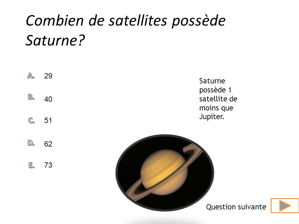 Combien de satellites possède Saturne