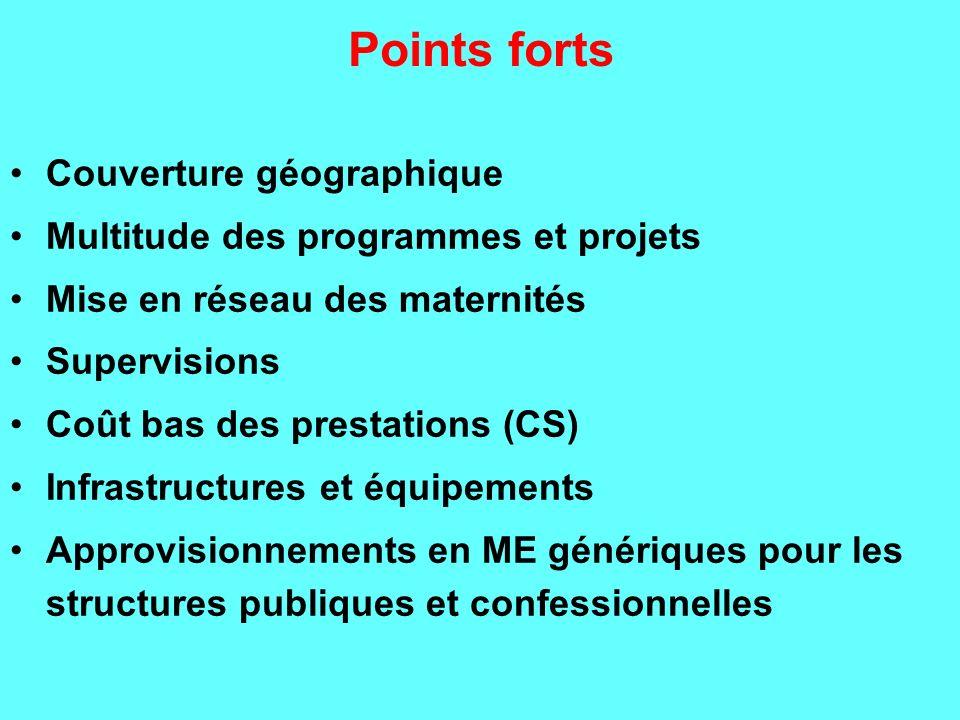 Points forts Couverture géographique