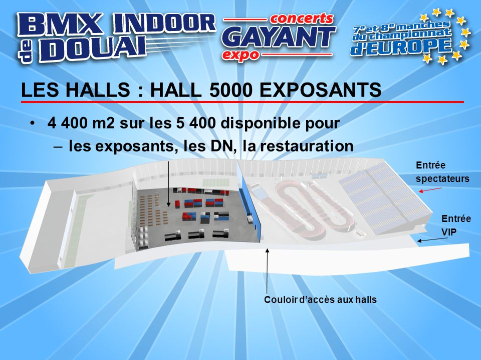 LES HALLS : HALL 5000 EXPOSANTS