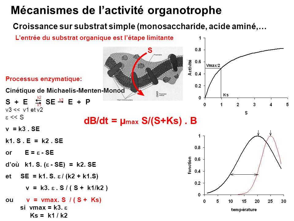 Mécanismes de l'activité organotrophe