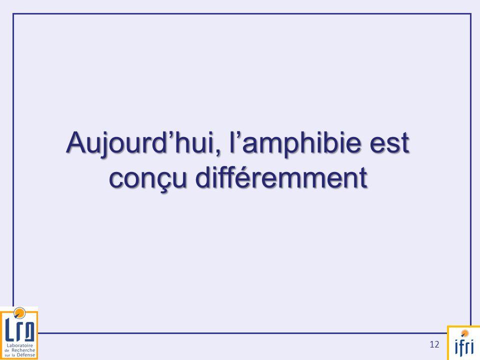 Aujourd'hui, l'amphibie est conçu différemment