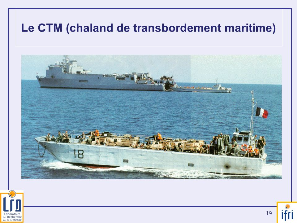 Le CTM (chaland de transbordement maritime)