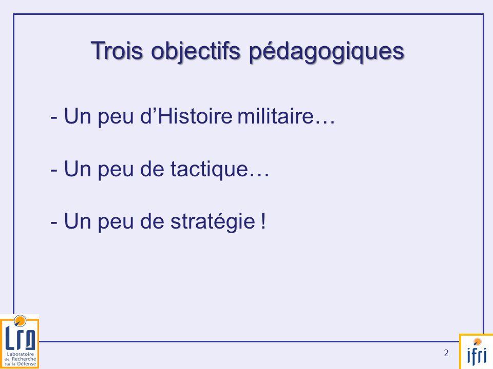 Trois objectifs pédagogiques