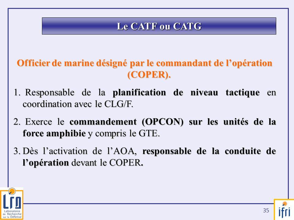 Officier de marine désigné par le commandant de l'opération (COPER).