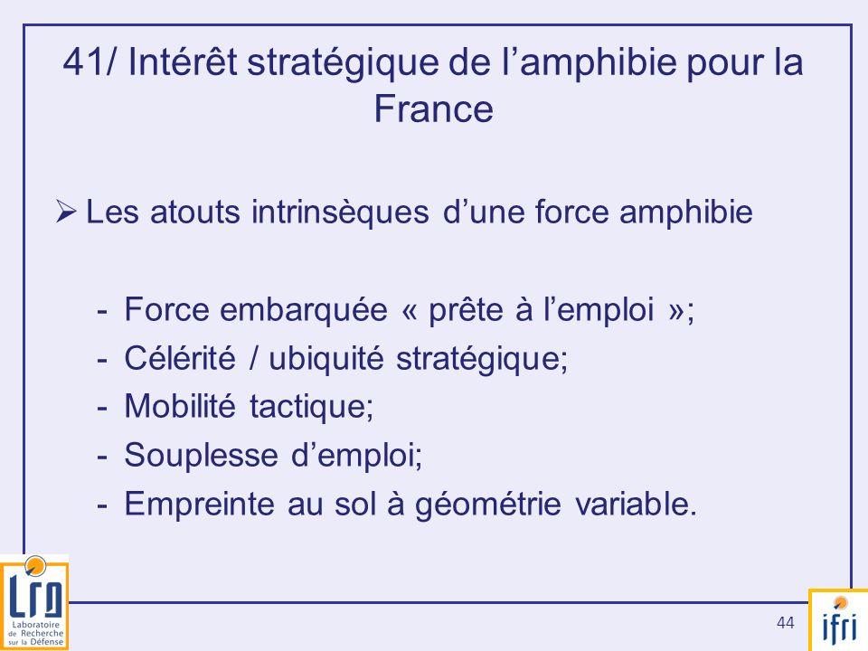 41/ Intérêt stratégique de l'amphibie pour la France