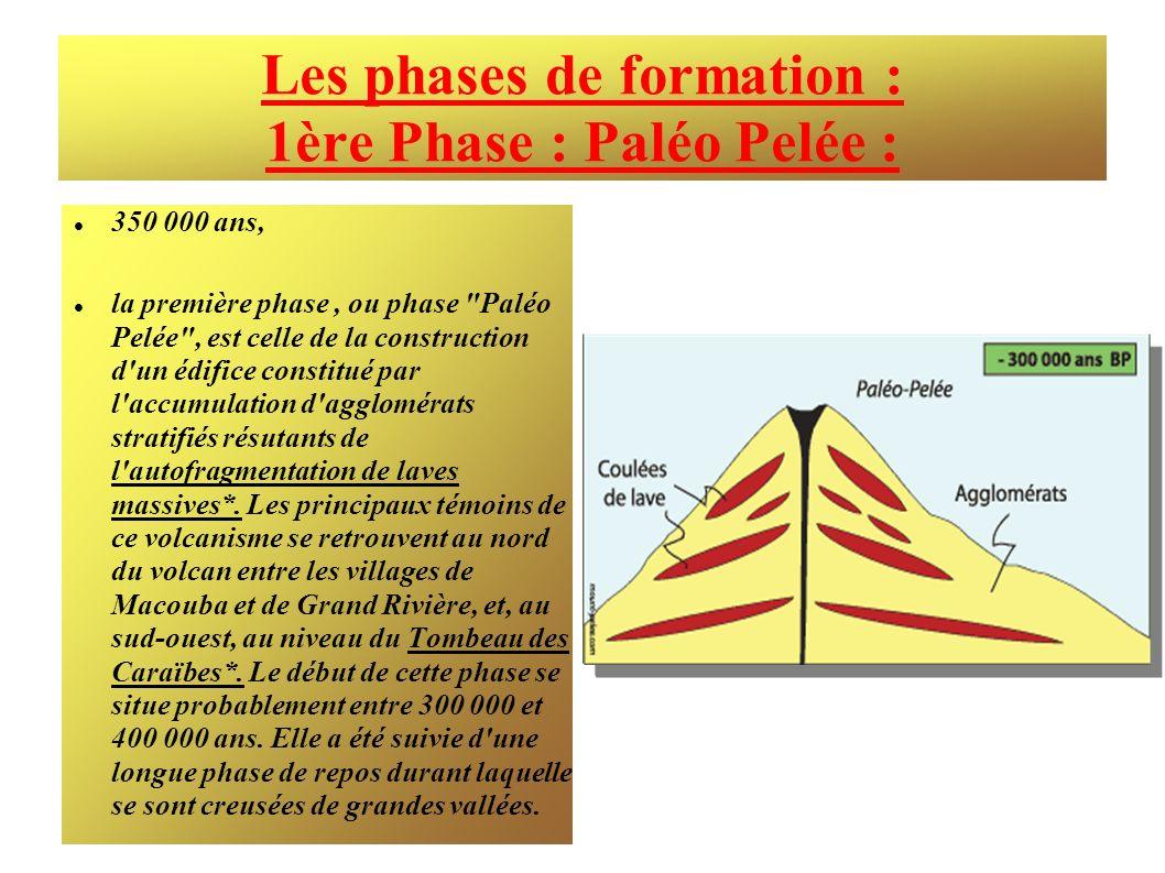 Les phases de formation : 1ère Phase : Paléo Pelée :