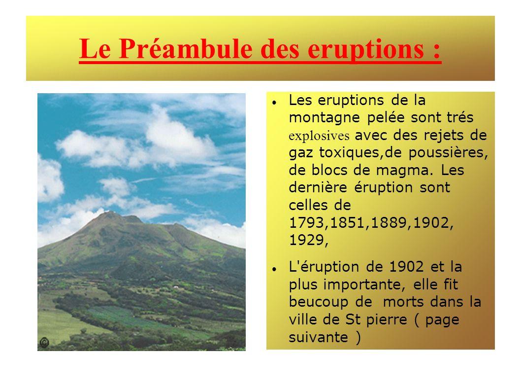 Le Préambule des eruptions :