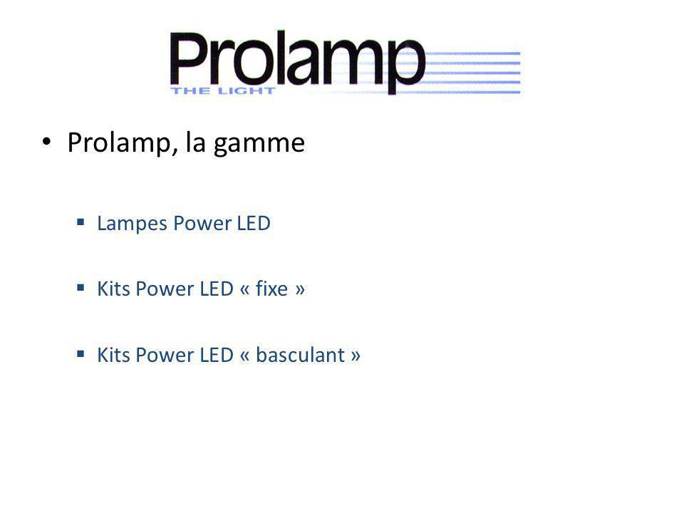Prolamp, la gamme Lampes Power LED Kits Power LED « fixe »