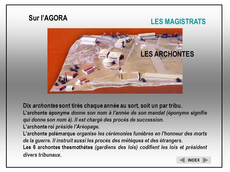 Sur l'AGORA LES MAGISTRATS LES ARCHONTES