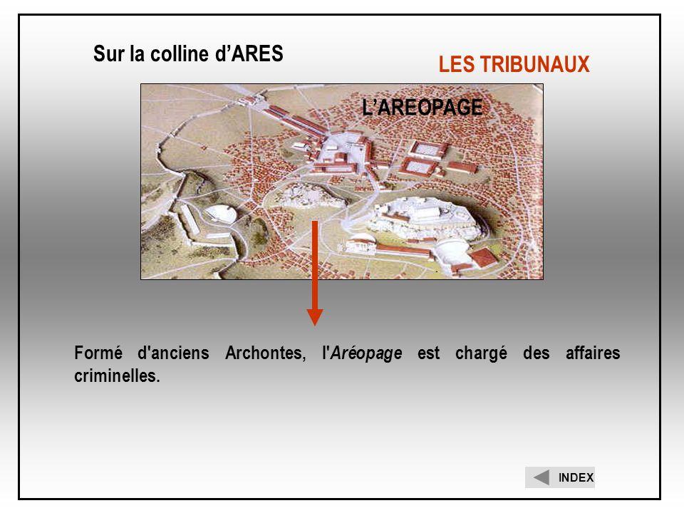 Sur la colline d'ARES LES TRIBUNAUX L'AREOPAGE